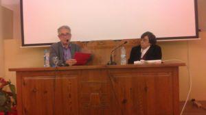 Un moment de la xerrada que es va dur a terme a la Sala Isidor Cònsul
